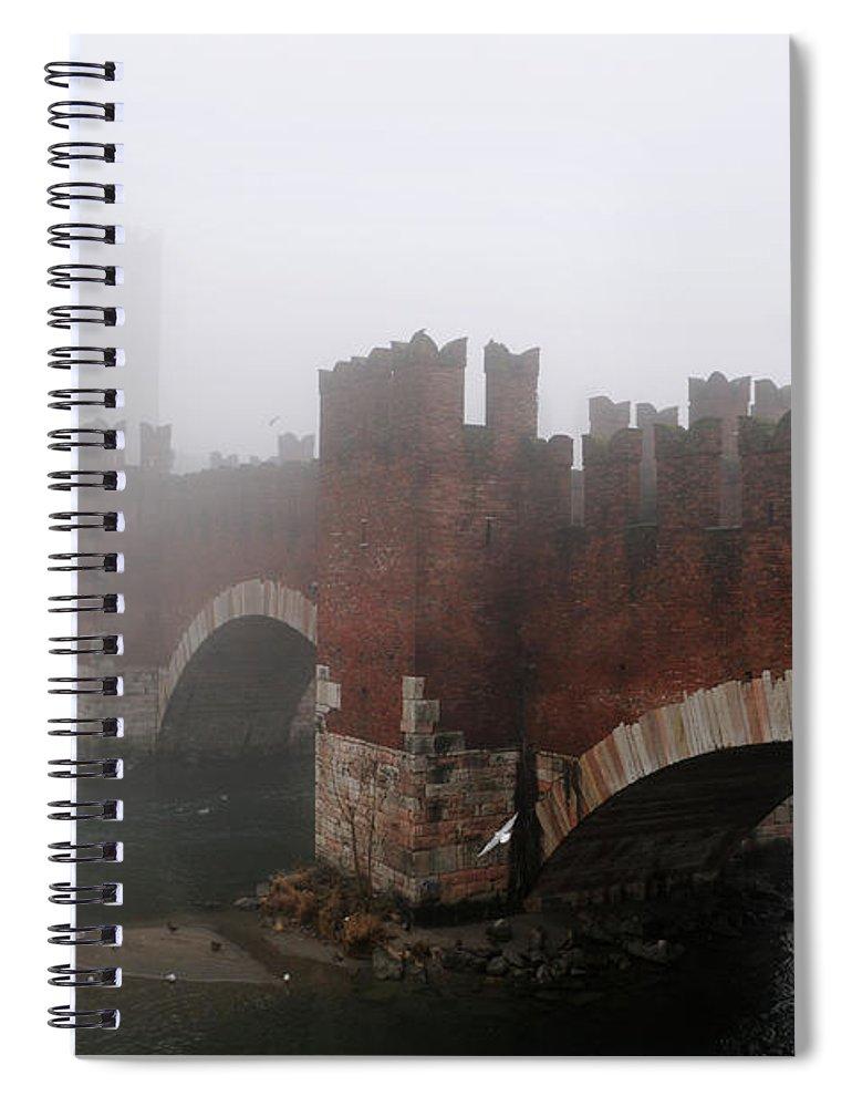 Arch Spiral Notebook featuring the photograph Castelvecchio Bridge by Stefano Zuliani Photo