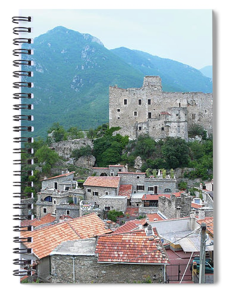 Tranquility Spiral Notebook featuring the photograph Castelvecchio Di Rocca Barbena by Photo By Randi Larsen
