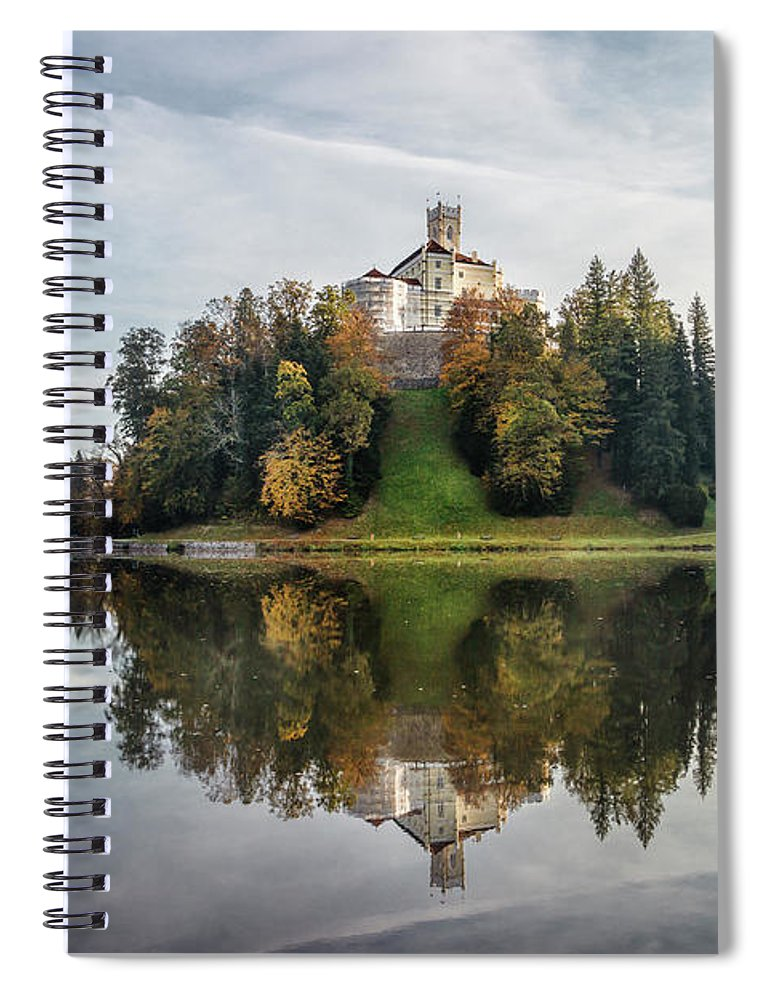 Kremsdorf Spiral Notebook featuring the photograph Castle On The Hill by Evelina Kremsdorf