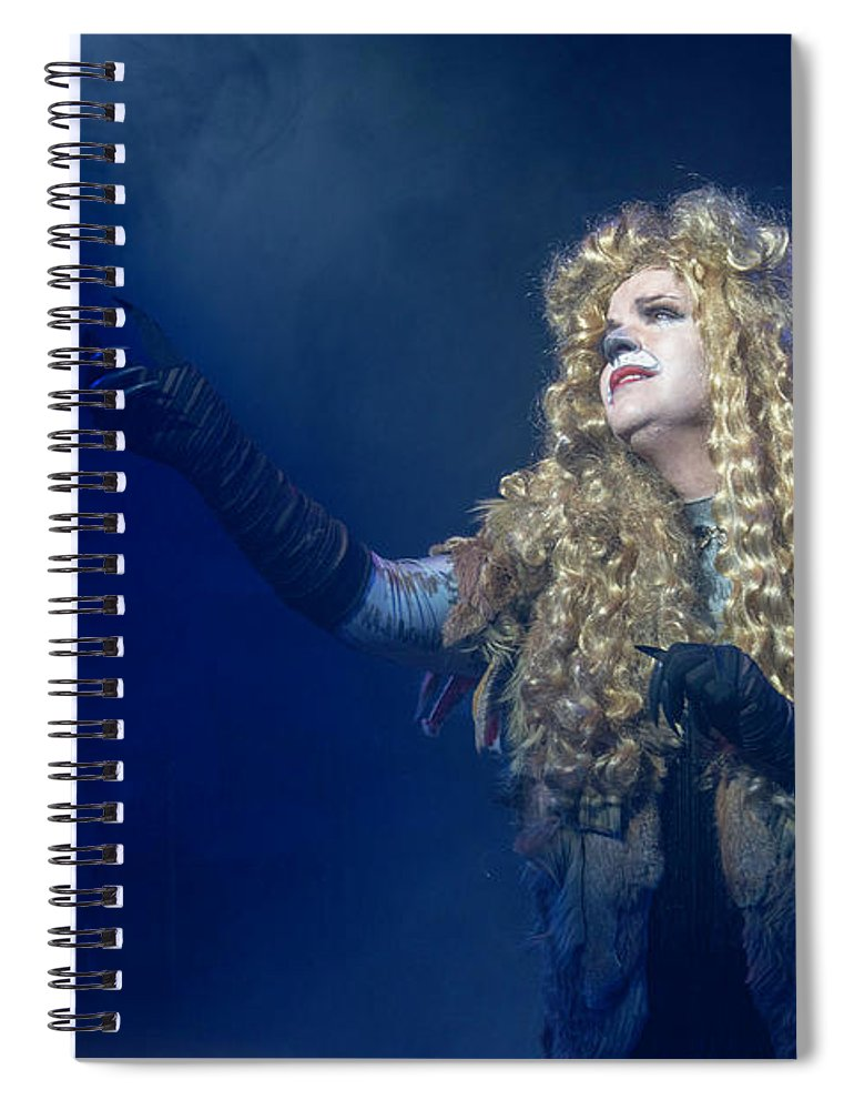 Broadway Spiral Notebook featuring the photograph CATS Publicity image by Alan D Smith