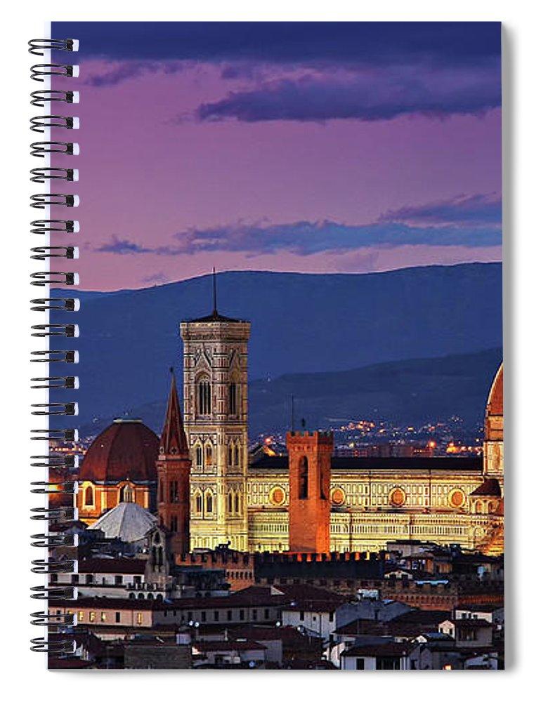 Outdoors Spiral Notebook featuring the photograph Cattedrale Di Santa Maria Del Fiore - by Www.matteorinaldi.it