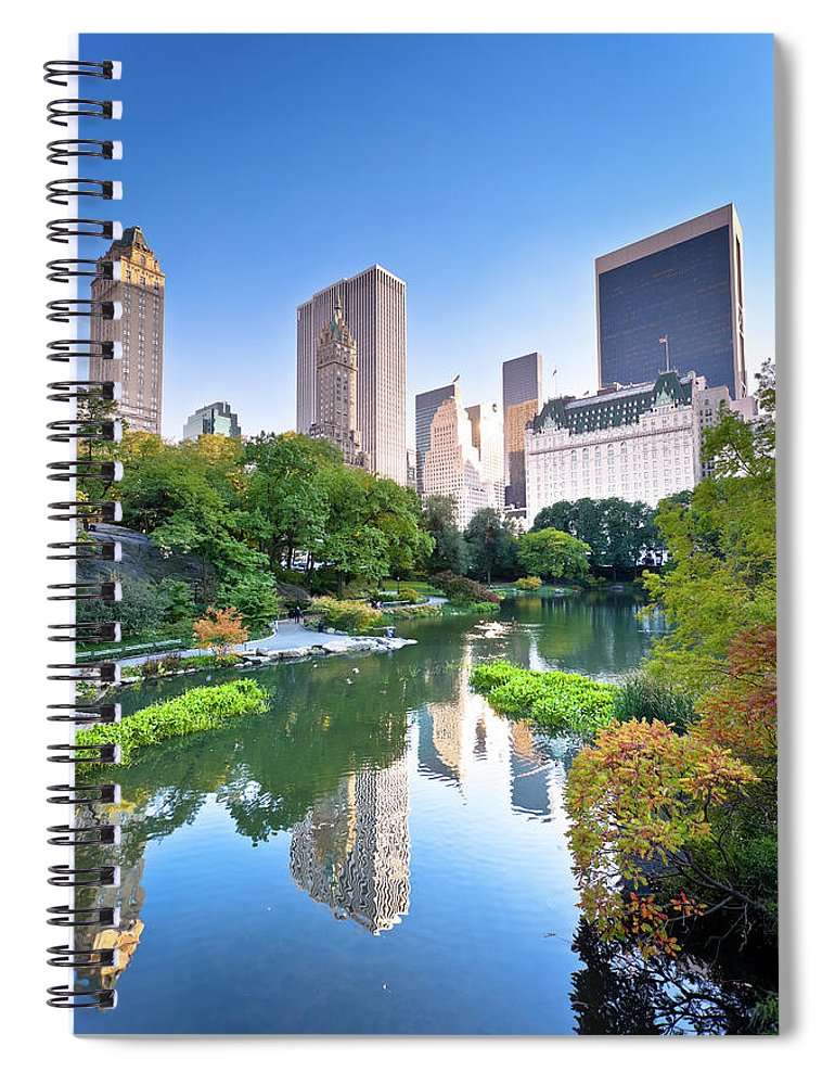 Downtown District Spiral Notebook featuring the photograph Central Park In New York City by Pawel.gaul