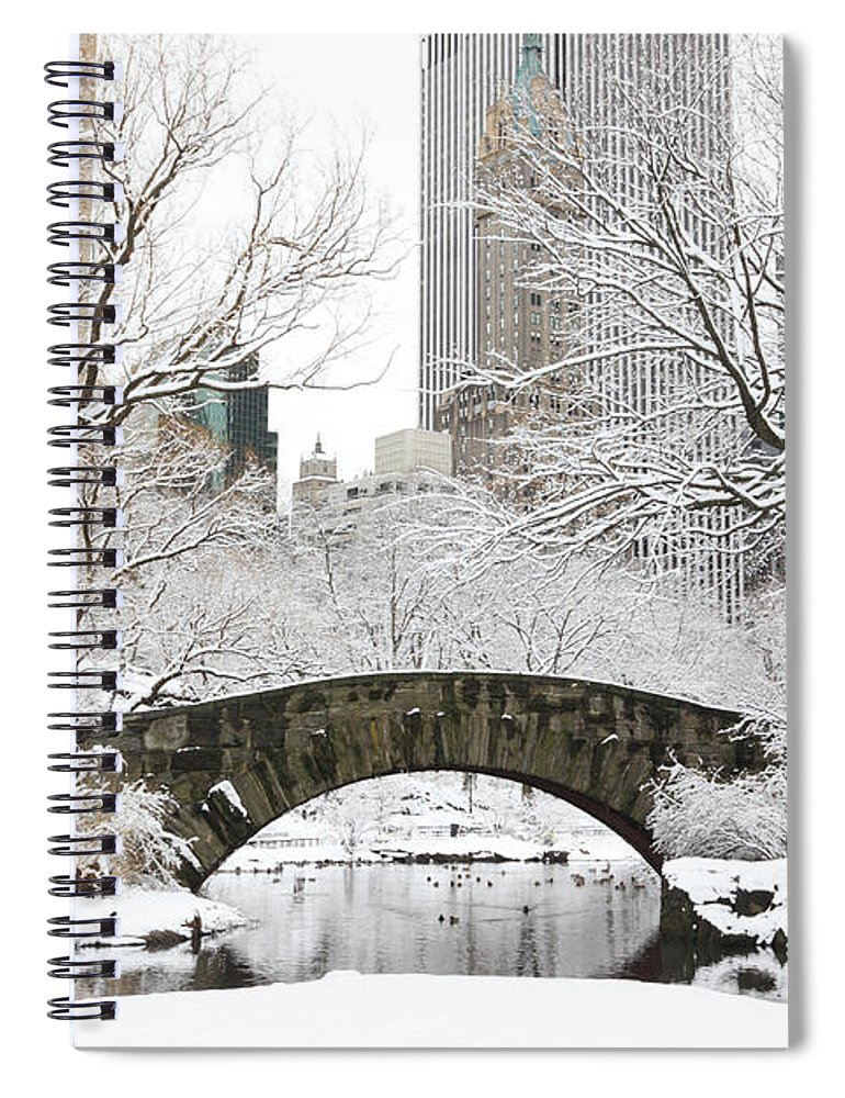 Snow Spiral Notebook featuring the photograph Central Park, New York by Veni