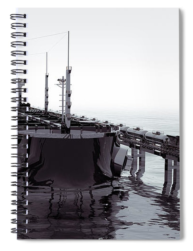 Land Vehicle Spiral Notebook featuring the photograph Cgi Crude Oil Transportation Vehicles by Coneyl Jay