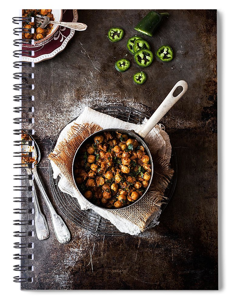 San Francisco Spiral Notebook featuring the photograph Chana Masala by One Girl In The Kitchen
