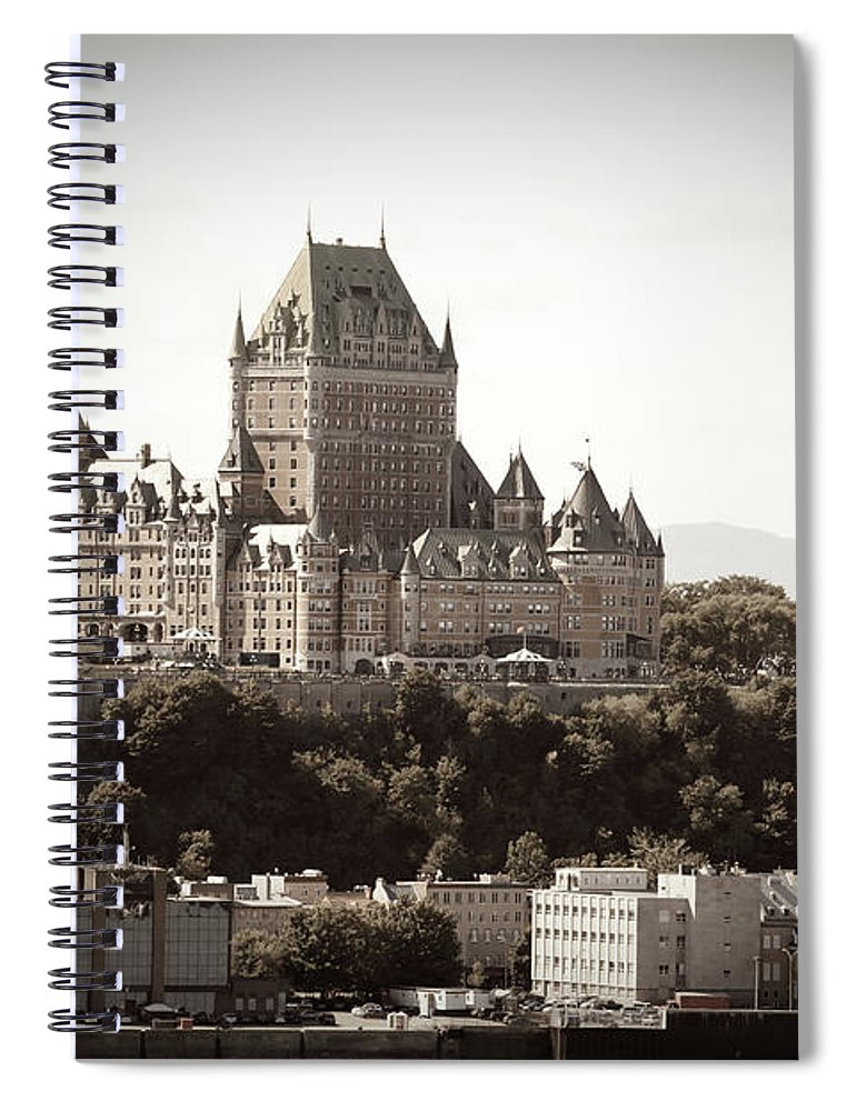Copper Spiral Notebook featuring the photograph Chateau Frontenac From Levis, Quebec by Onfokus