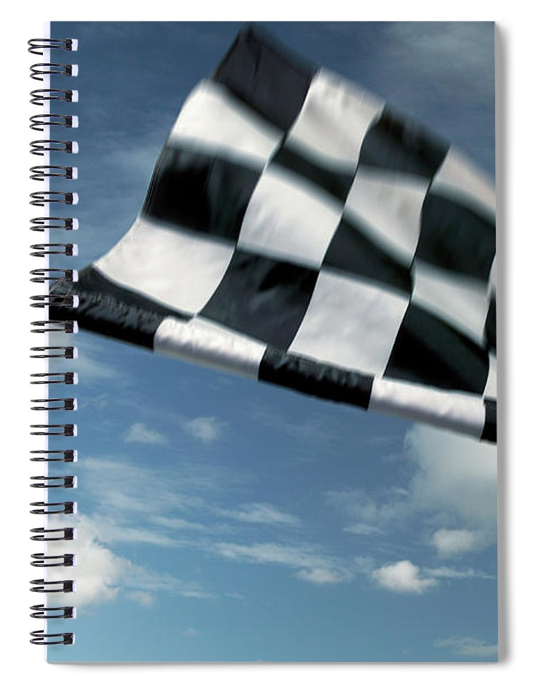 Working Spiral Notebook featuring the photograph Checkered Flag by James W. Porter