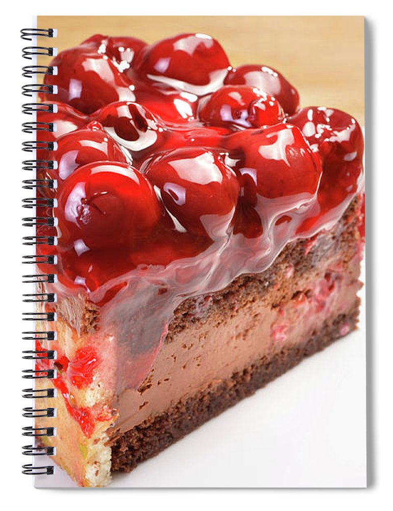 Cherry Spiral Notebook featuring the photograph Cherry Cake by Imagedepotpro