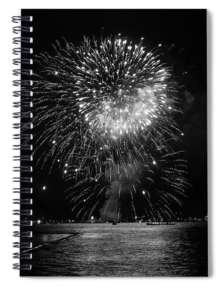 Fireworks Spiral Notebook featuring the photograph Chicago Fireworks by Betsy Knapp