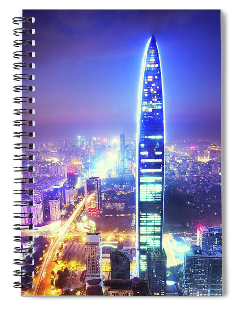 Chinese Culture Spiral Notebook featuring the photograph Chinas Megacity Shenzhen by Nikada