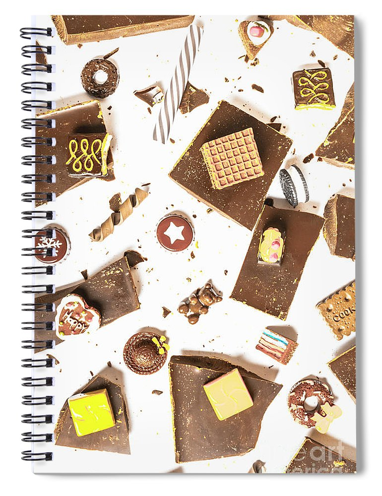 Confectionery Spiral Notebook featuring the photograph Chocolate Bar Break by Jorgo Photography - Wall Art Gallery