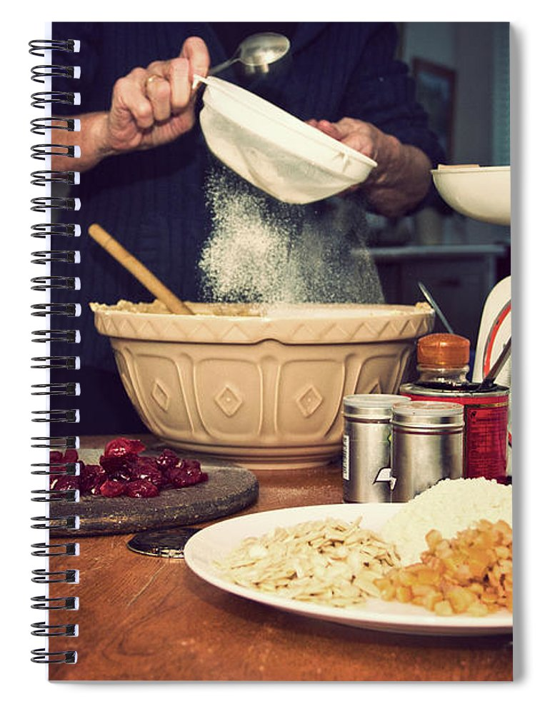 Dublin Spiral Notebook featuring the photograph Christmas Cake Making by Image By Catherine Macbride