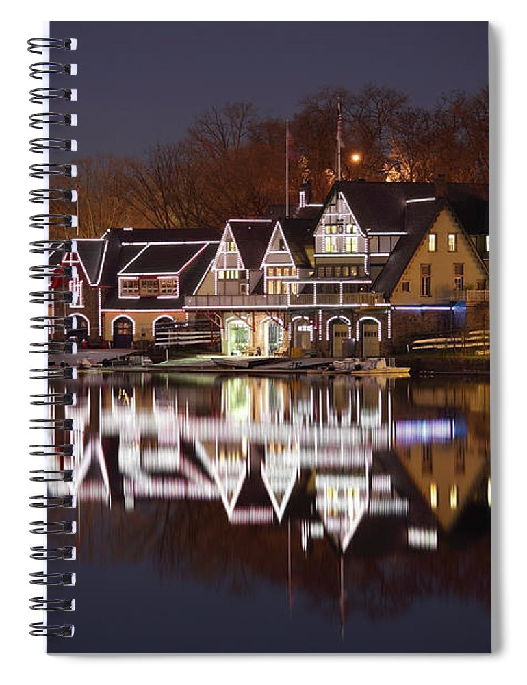 Holiday Spiral Notebook featuring the photograph Christmas Lights by Denistangneyjr