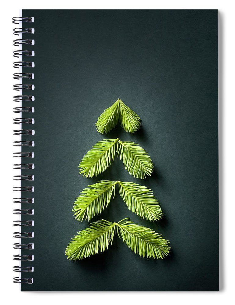 Needle Spiral Notebook featuring the photograph Christmas Tree by Malerapaso