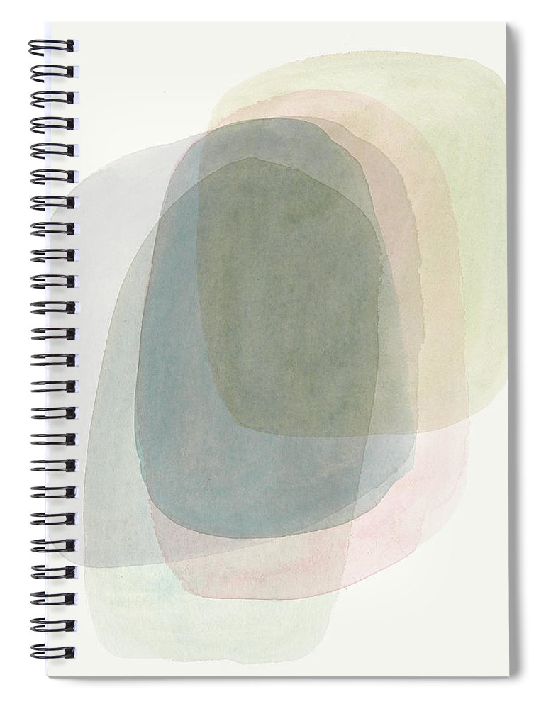 Abstract Spiral Notebook featuring the painting Chroma Cast II by Victoria Borges