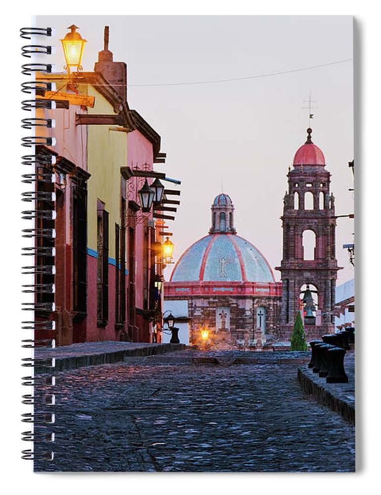 Latin America Spiral Notebook featuring the photograph Church Of San Francisco, Looking Up by Jeremy Woodhouse