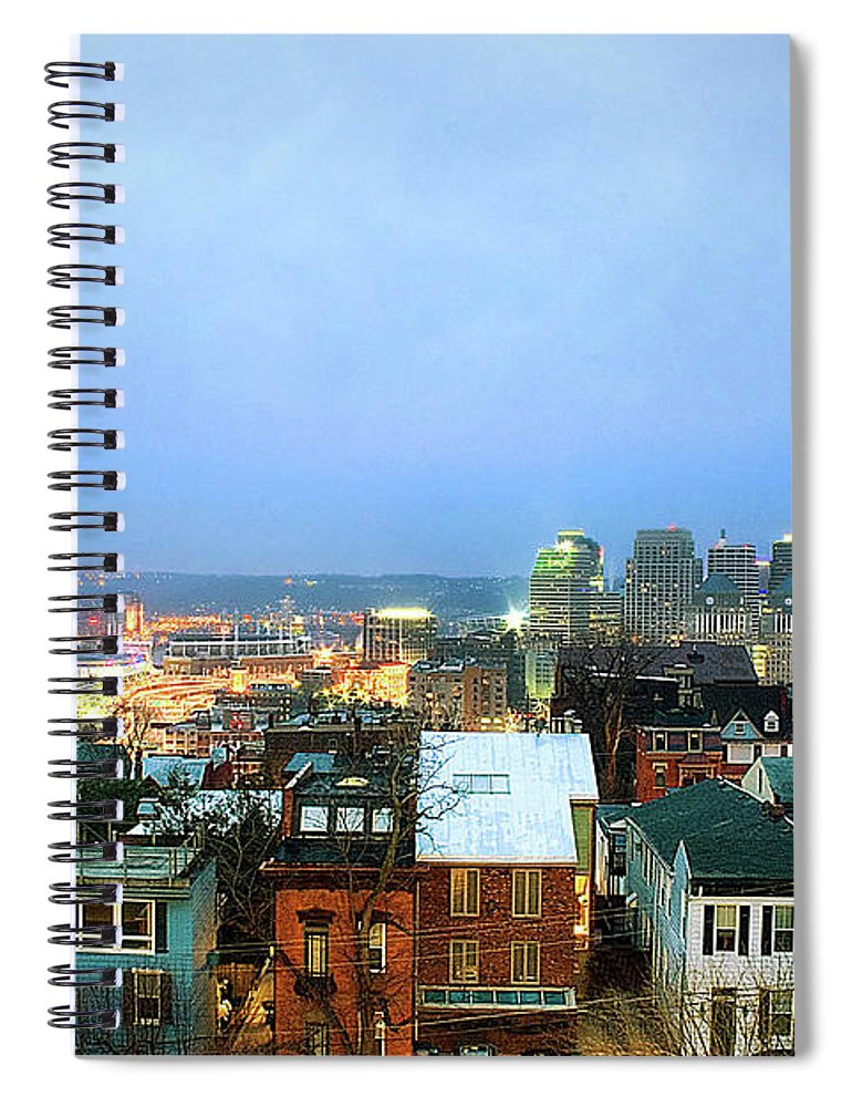 Tranquility Spiral Notebook featuring the photograph Cincinnati Skyline by Keith R. Allen