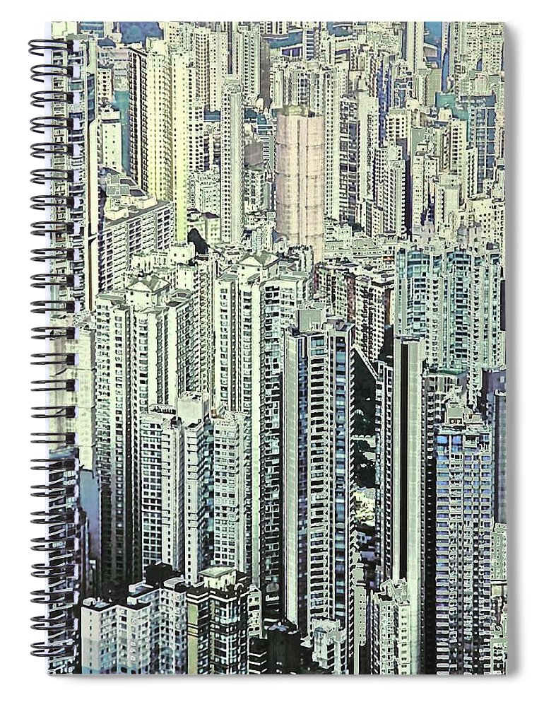 City Spiral Notebook featuring the photograph City by Gillis Cone