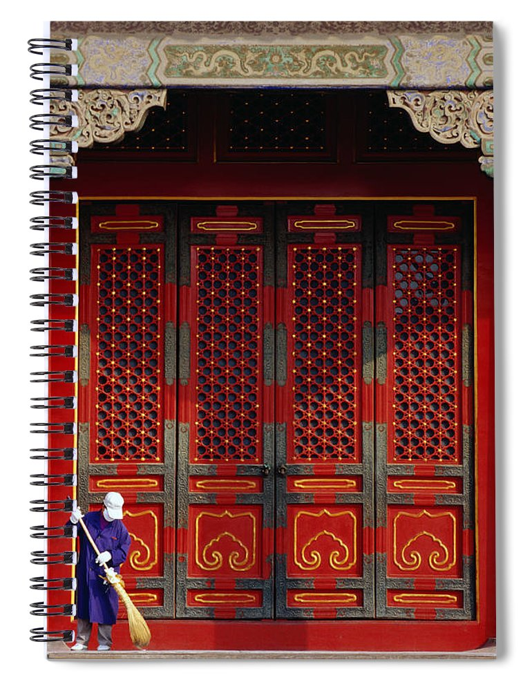 Working Spiral Notebook featuring the photograph Cleaner Sweeps Steps Inside The by Lonely Planet