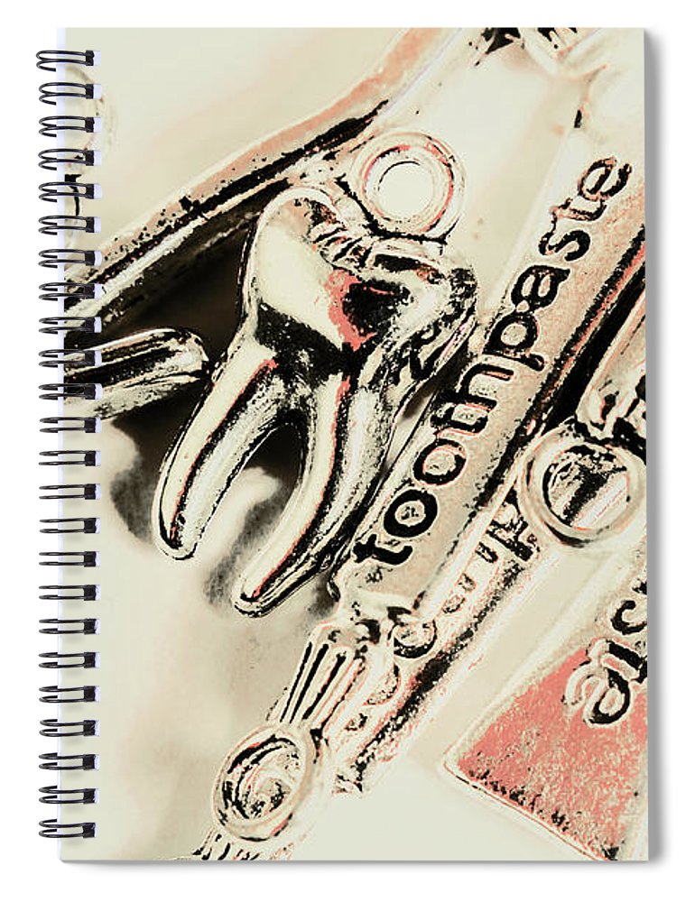 Dentistry Spiral Notebook featuring the photograph Clinical Tooth Care by Jorgo Photography - Wall Art Gallery