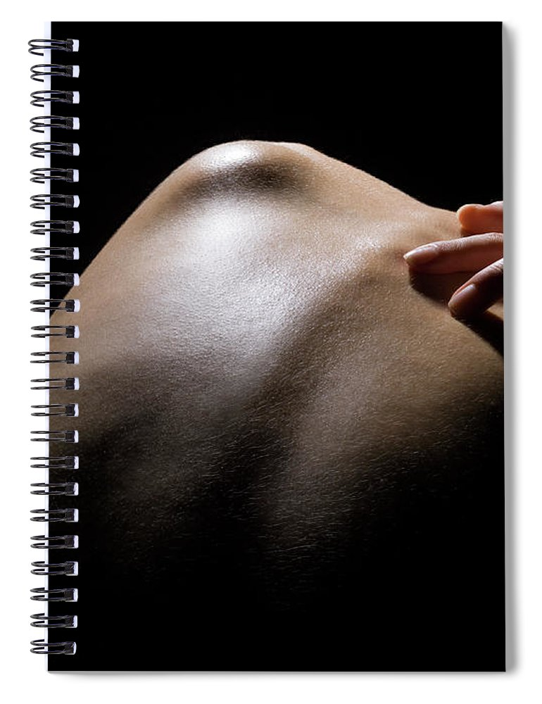 Tranquility Spiral Notebook featuring the photograph Close Up Of A Females Shoulder by Michael H