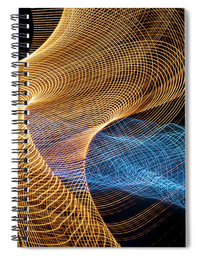 Internet Spiral Notebook featuring the photograph Close Up Of Flowing Light Trails by John M Lund Photography Inc