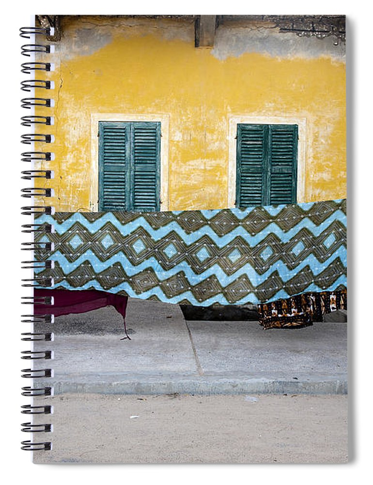 Hanging Spiral Notebook featuring the photograph Clothes Hanging by Roripalazzo.com