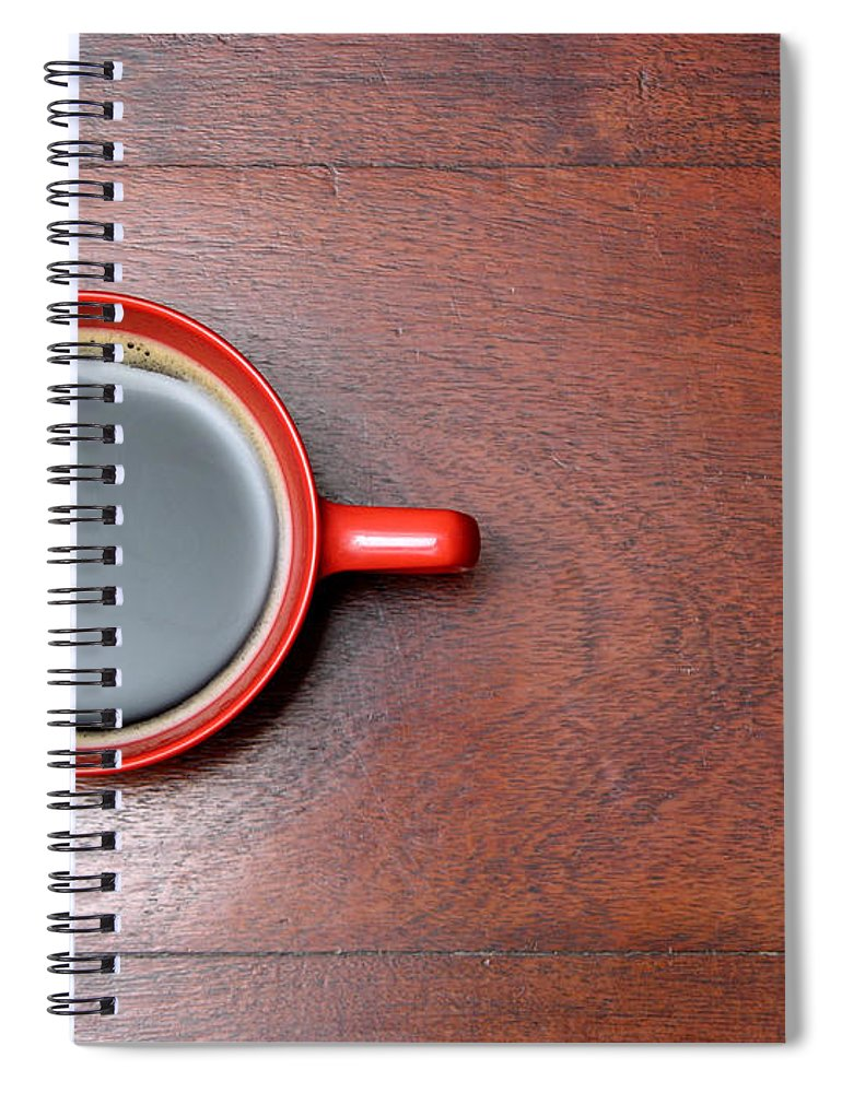 Motivation Spiral Notebook featuring the photograph Coffee Chill Out by Fotografiabasica