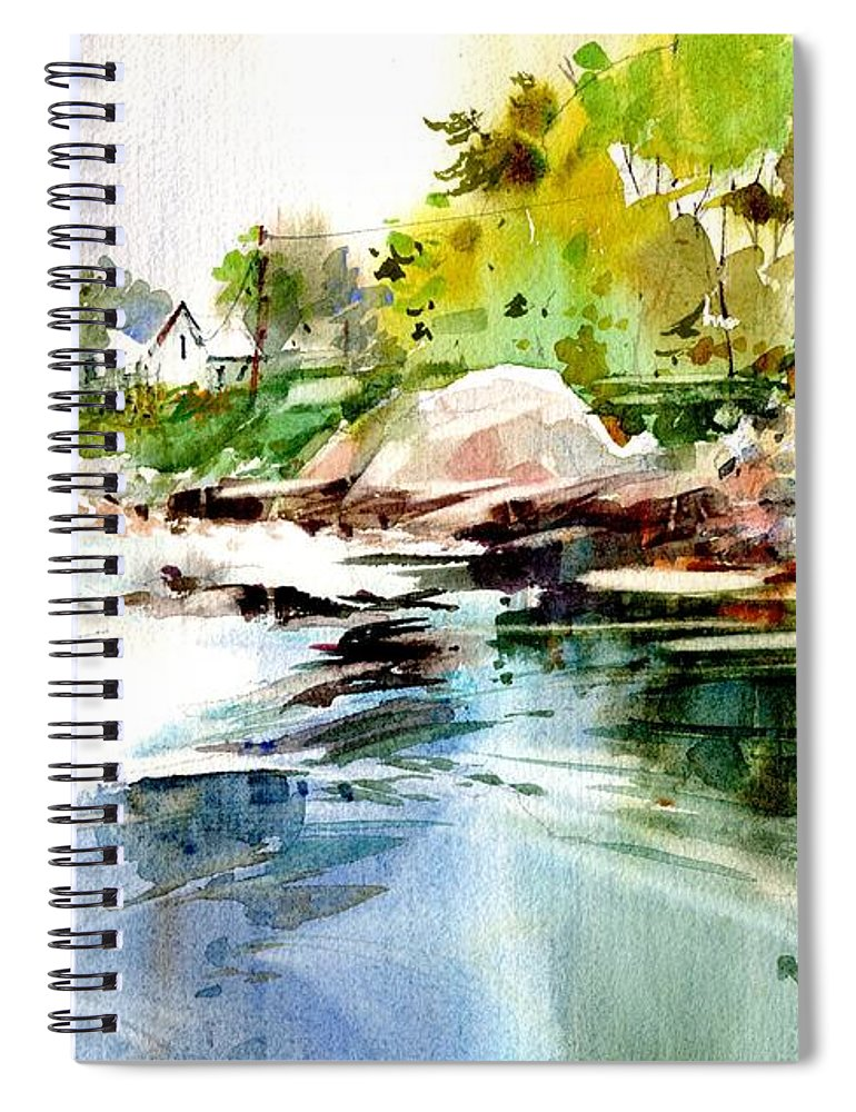 Visco Spiral Notebook featuring the painting Cohasset Rapids by P Anthony Visco