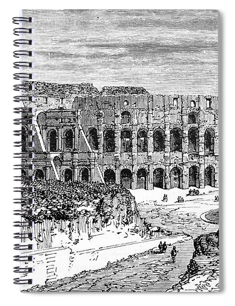Scenics Spiral Notebook featuring the digital art Coliseum by Ilbusca