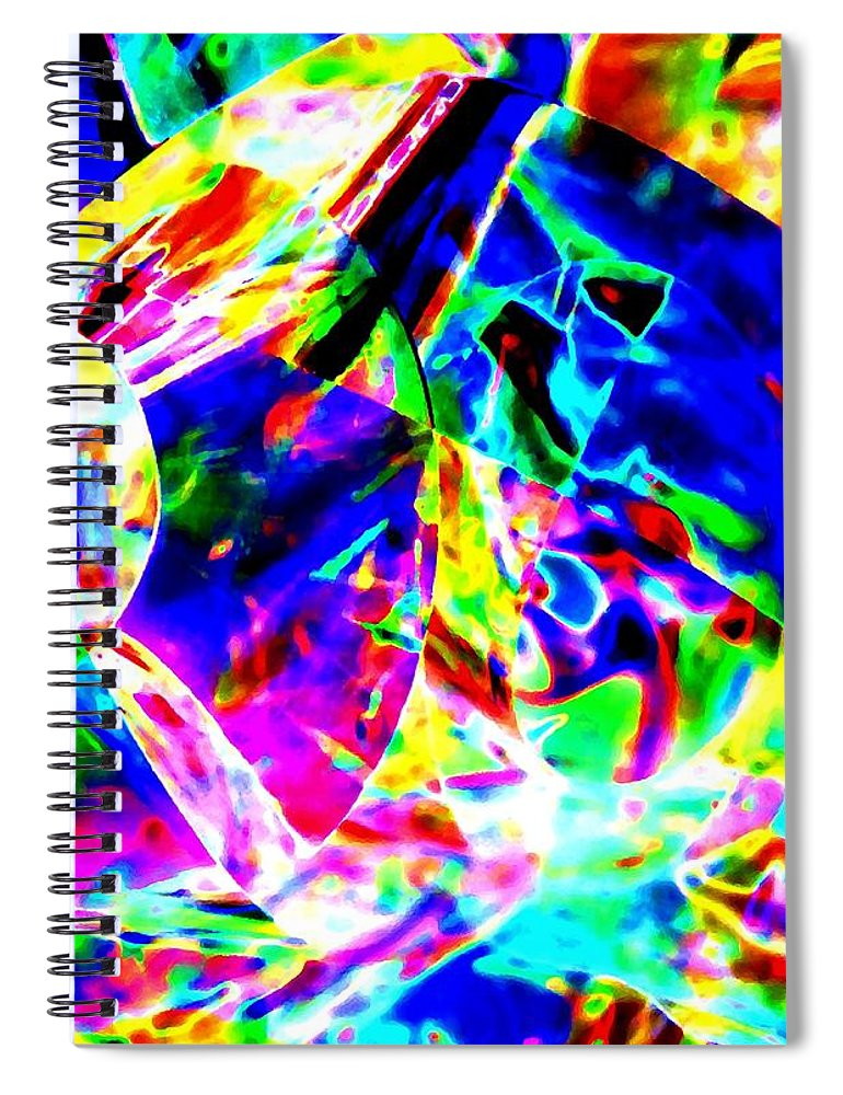 Abstract Spiral Notebook featuring the digital art Color To The Nth Degree by Will Borden