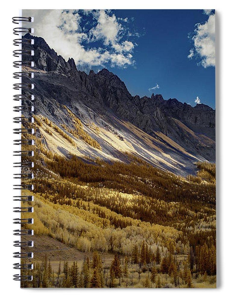 Colorado Spiral Notebook featuring the photograph Colorado Mountains by Jon Glaser