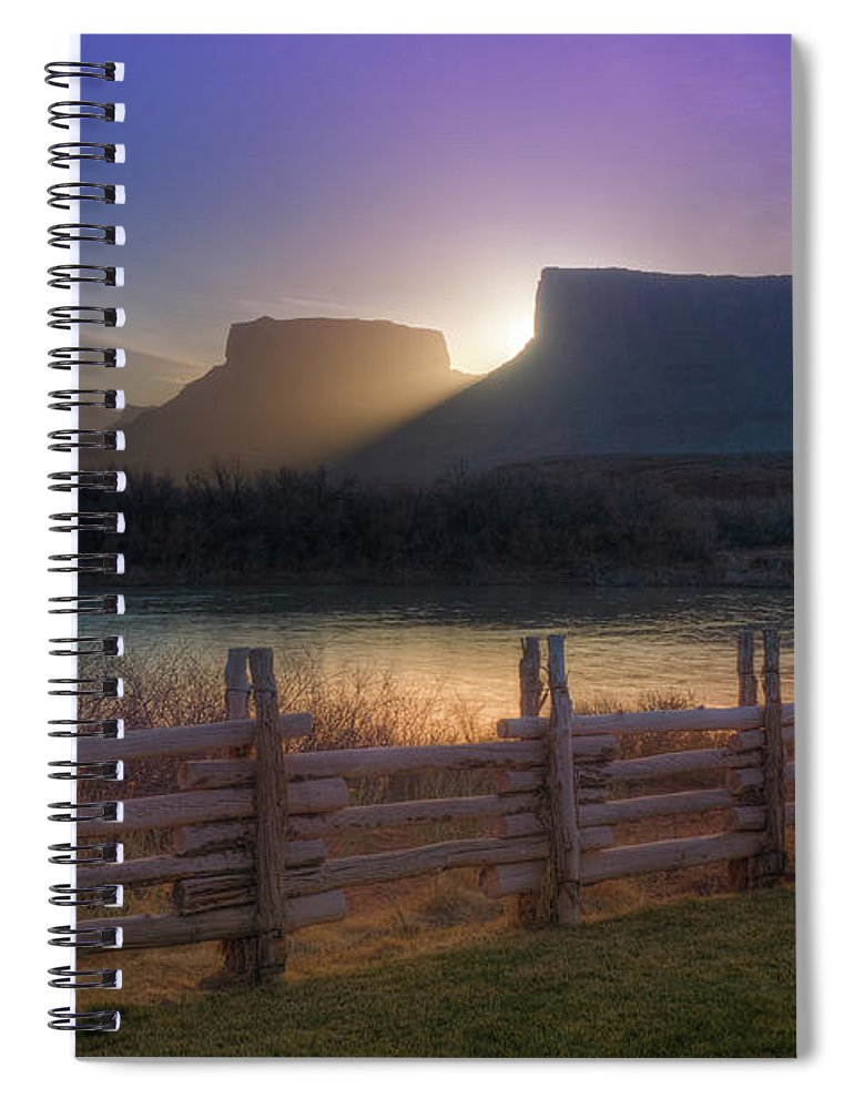 Scenics Spiral Notebook featuring the photograph Colorado River Sunrise, Moab, Utah, Usa by Fotomonkee