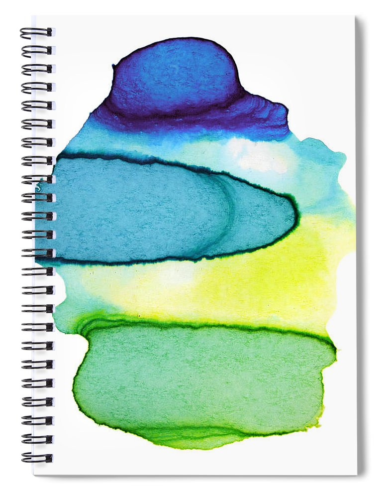 Watercolor Painting Spiral Notebook featuring the digital art Colorful Watercolor Paint Paper Texture by 4khz