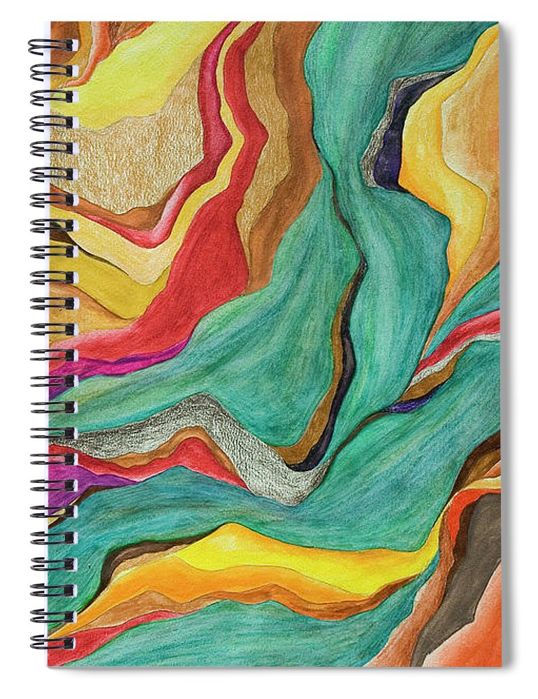 Art Spiral Notebook featuring the digital art Colors Of Humanity Series by Marthadavies