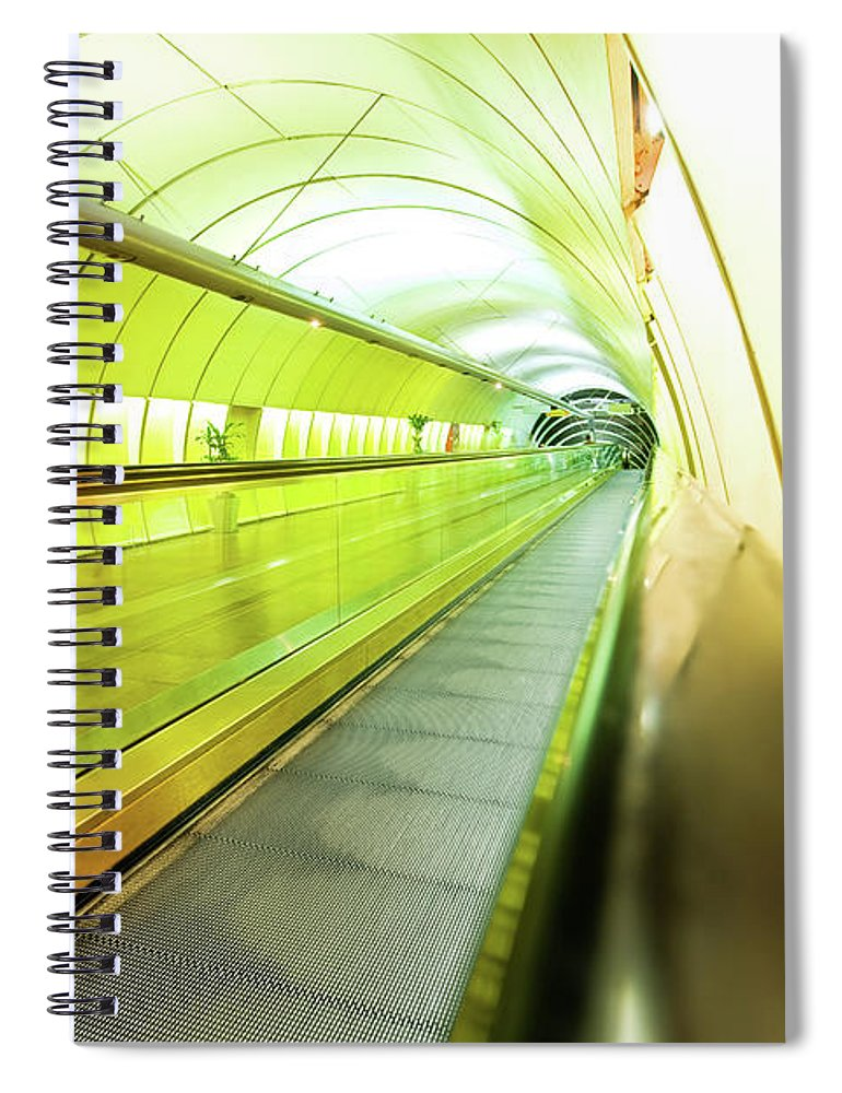 Pedestrian Spiral Notebook featuring the photograph Colourful Walkway by Nikada