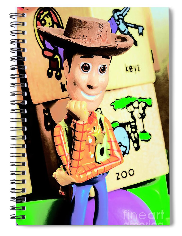 Cowboy Spiral Notebook featuring the photograph Comic Cowboy by Jorgo Photography - Wall Art Gallery