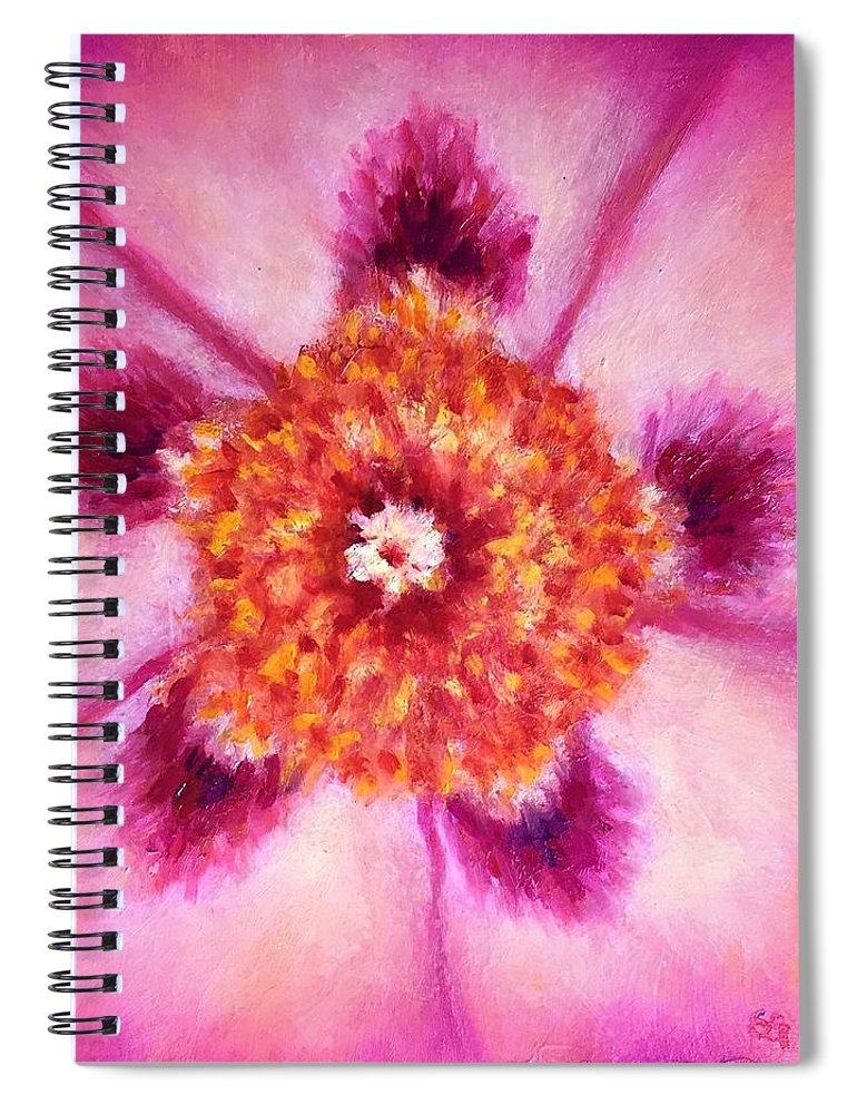 Compassion Spiral Notebook featuring the painting Compassion Heart Center Series by Shannon Grissom