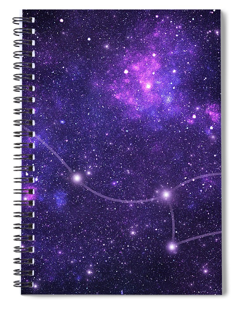 Dust Spiral Notebook featuring the photograph Constellations. Ursa Minor Umi by Sololos