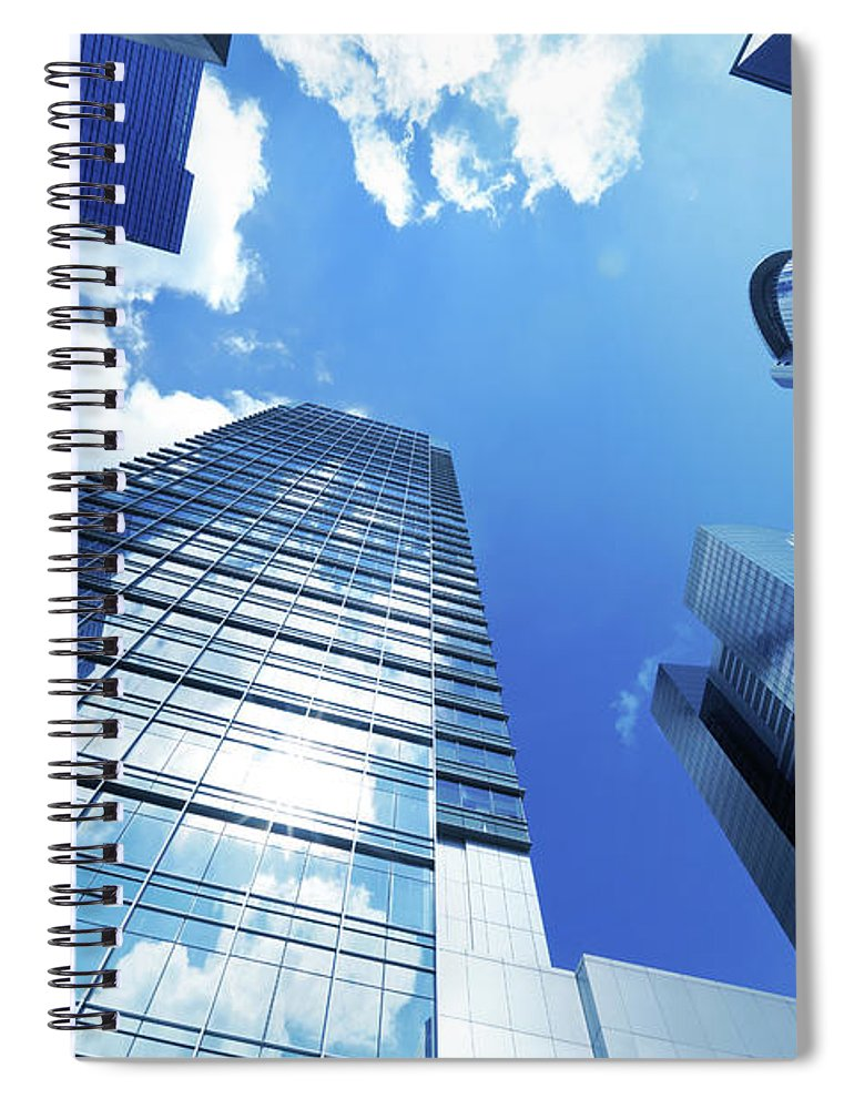 Corporate Business Spiral Notebook featuring the photograph Corporate Building by Samxmeg