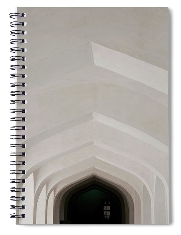 Tranquility Spiral Notebook featuring the photograph Corridor In Amer Fort, Rajasthan, India by Cultura Exclusive/karen Fox
