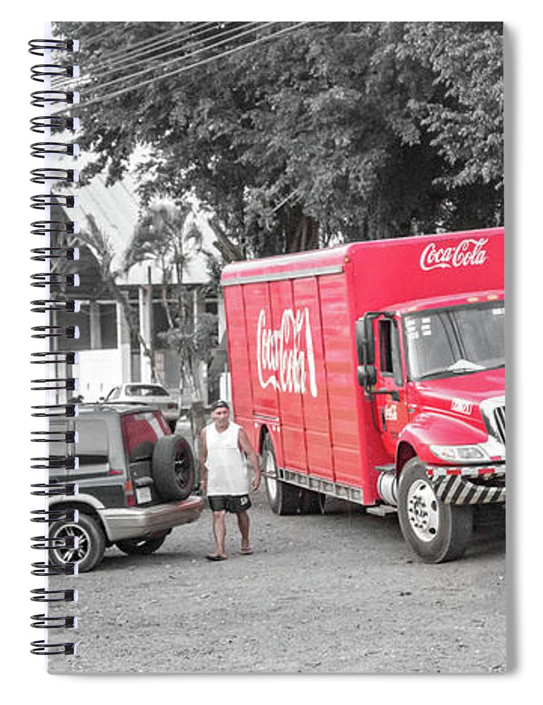 Costa Spiral Notebook featuring the photograph Costa Rica Soda Truck by Betsy Knapp