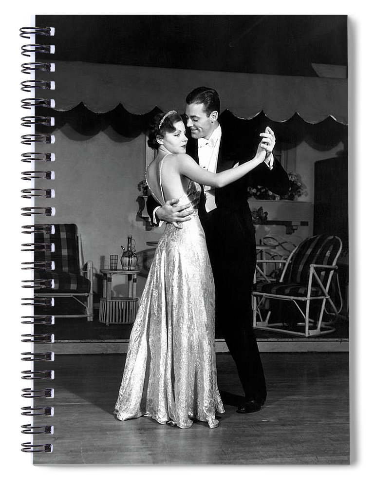 Heterosexual Couple Spiral Notebook featuring the photograph Couple In Formal Wear Dancing by George Marks