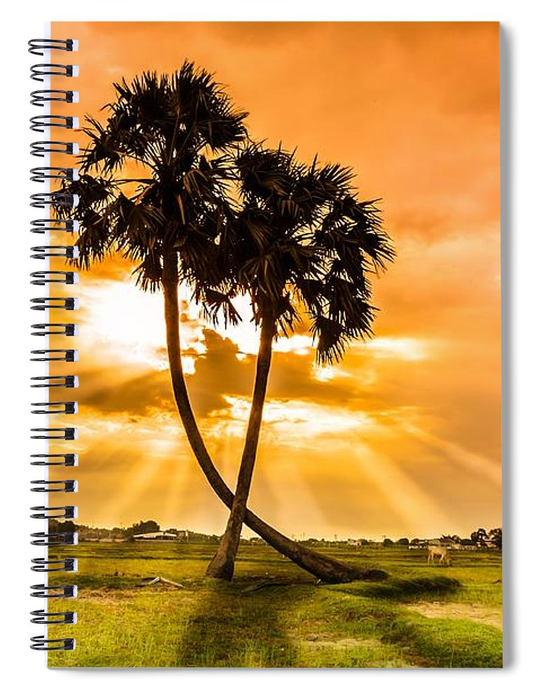 Love Spiral Notebook featuring the photograph Couple by Lam Loi