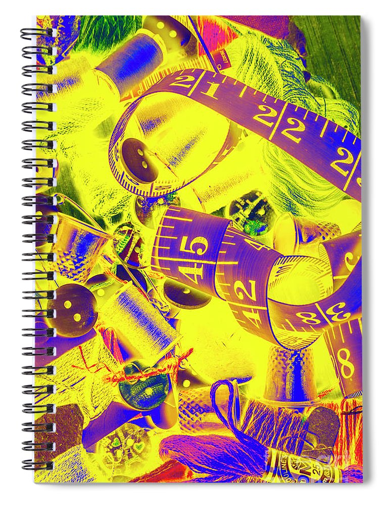 Dressmaking Spiral Notebook featuring the photograph Crafting Colours by Jorgo Photography - Wall Art Gallery