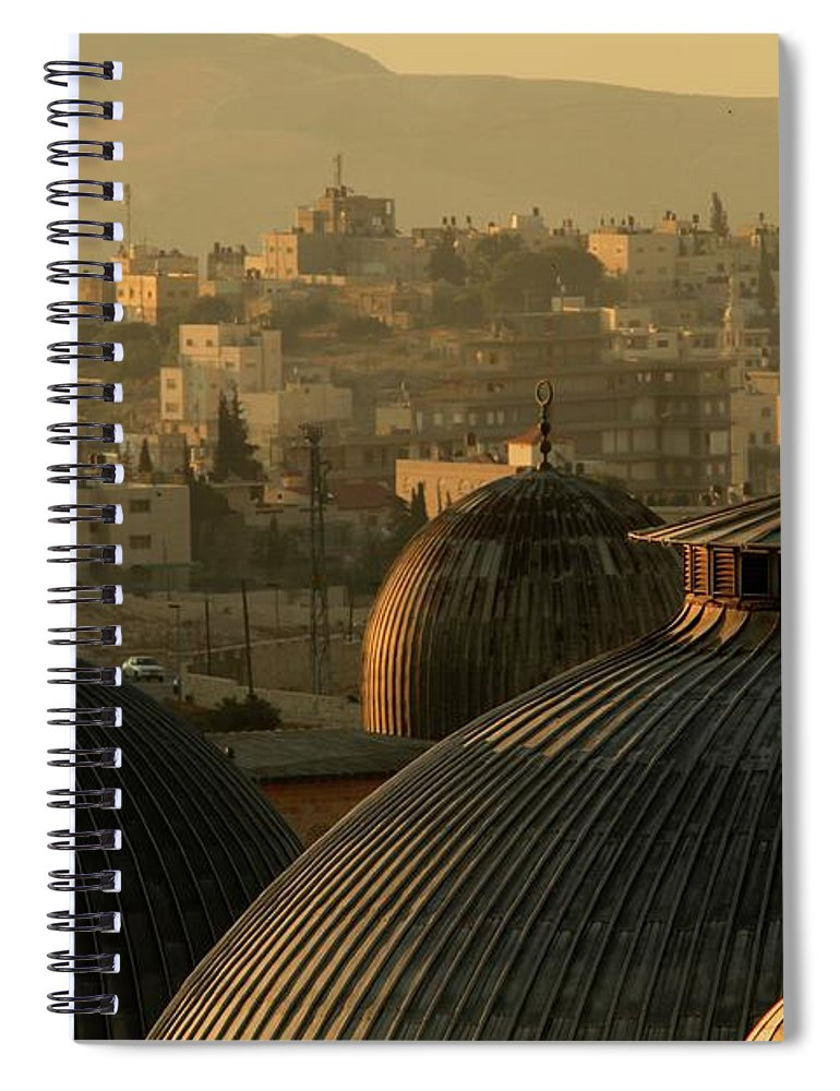 West Bank Spiral Notebook featuring the photograph Crosses And Domes In The Holy City Of by Picturejohn