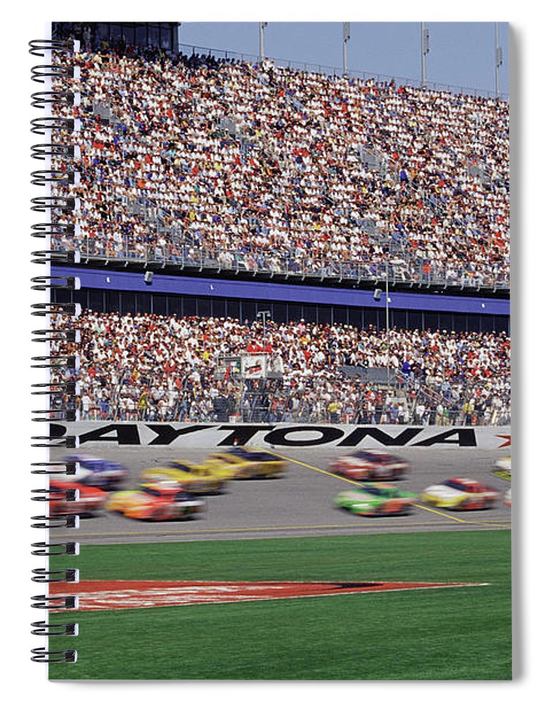 Event Spiral Notebook featuring the photograph Crowd At Car Race by William R. Sallaz