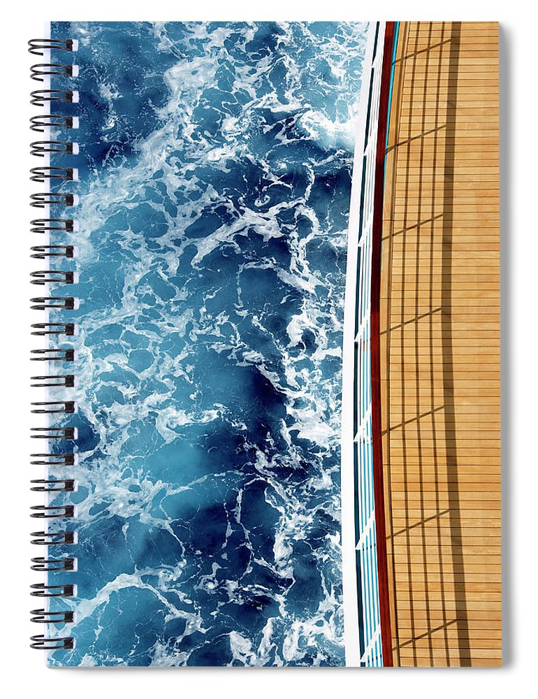 Shadow Spiral Notebook featuring the photograph Cruise Ship And Ocean by David Sacks