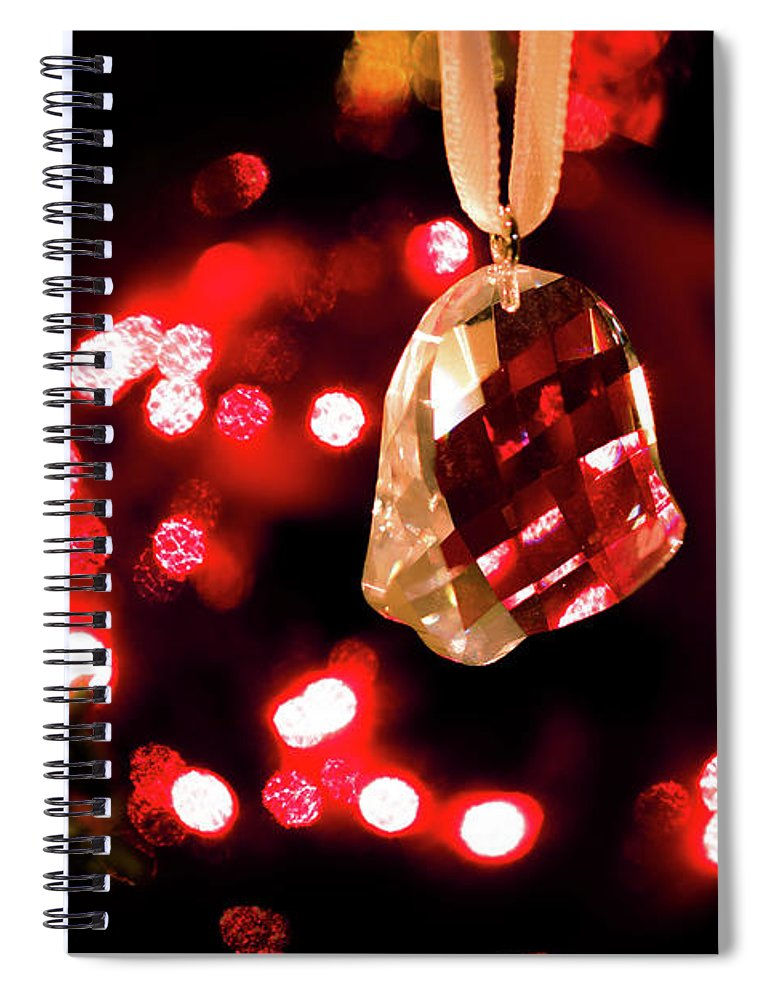 Holidays Spiral Notebook featuring the photograph Crystal Bell by Allin Sorenson