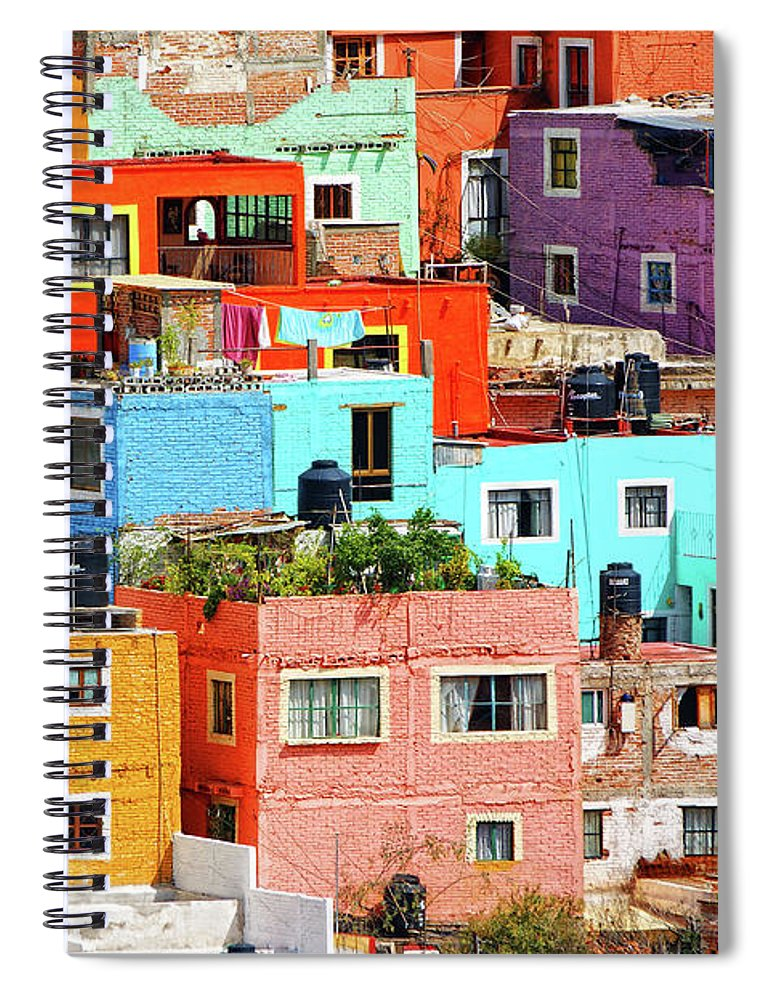 Stone Wall Spiral Notebook featuring the photograph Cultural Colonial Cities Of Mexico by Www.infinitahighway.com.br